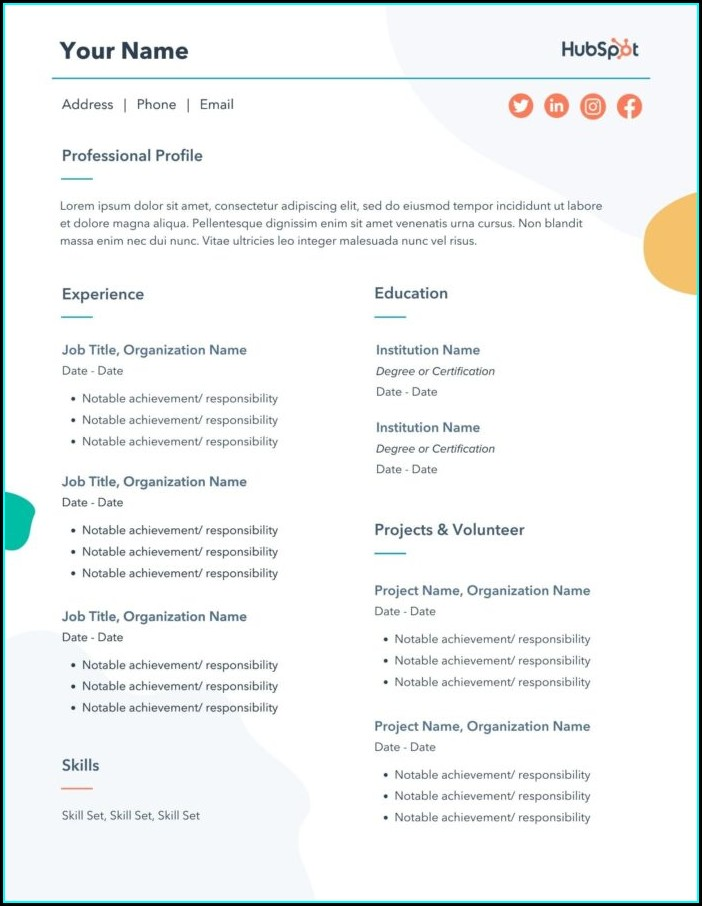 Cv Sample Word Document Free Cv Template Word