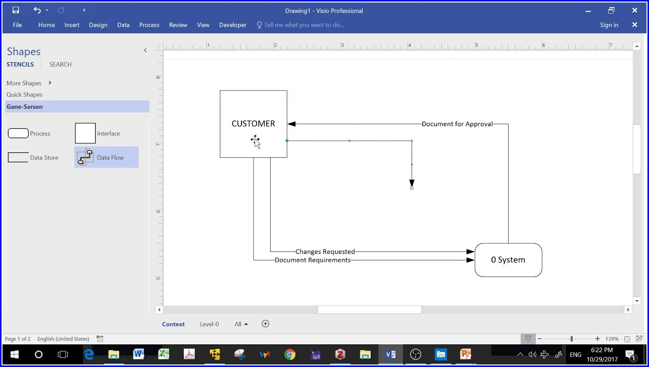 Data Flow Diagram Template Visio