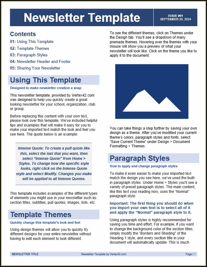 Design Word Newsletter Templates