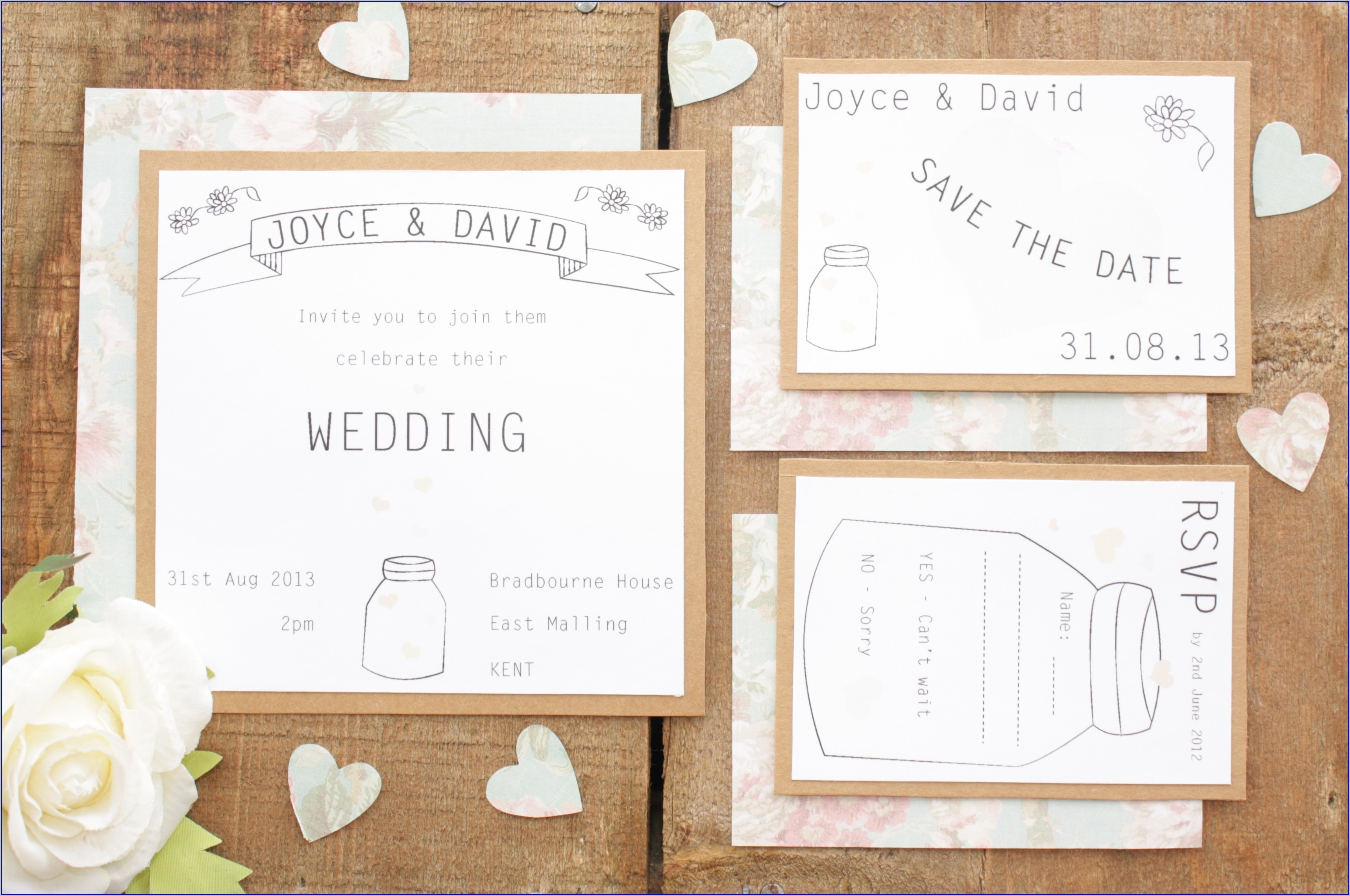 Diy Wedding Invitation Kits Uk