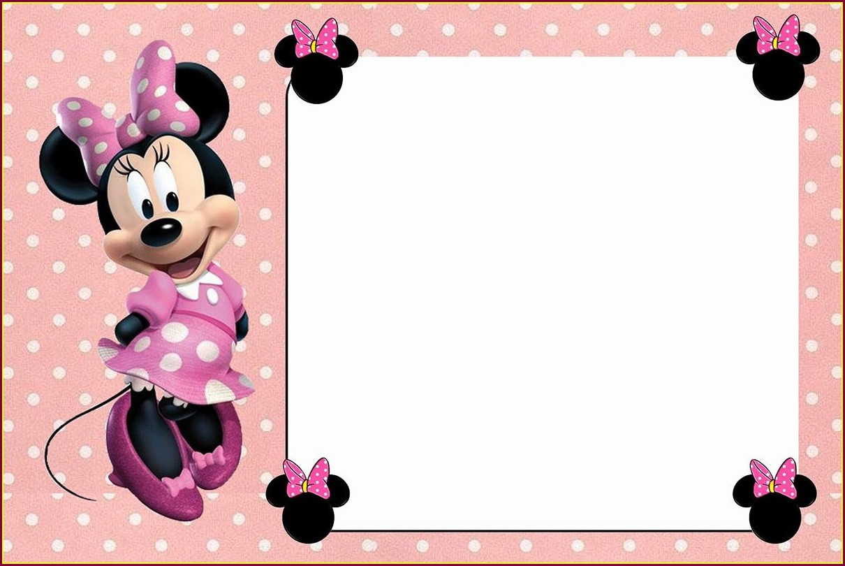 Downloadable Blank Red Minnie Mouse Invitation Template