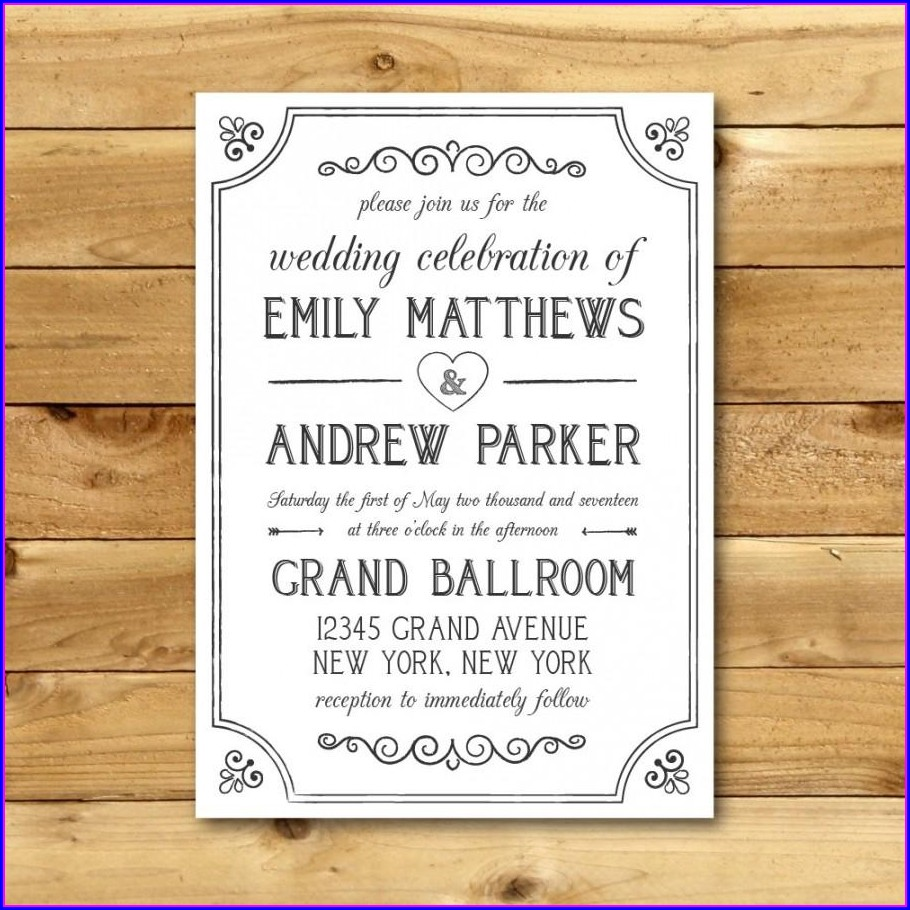 Downloadable Editable Free Wedding Invitation Templates For Word