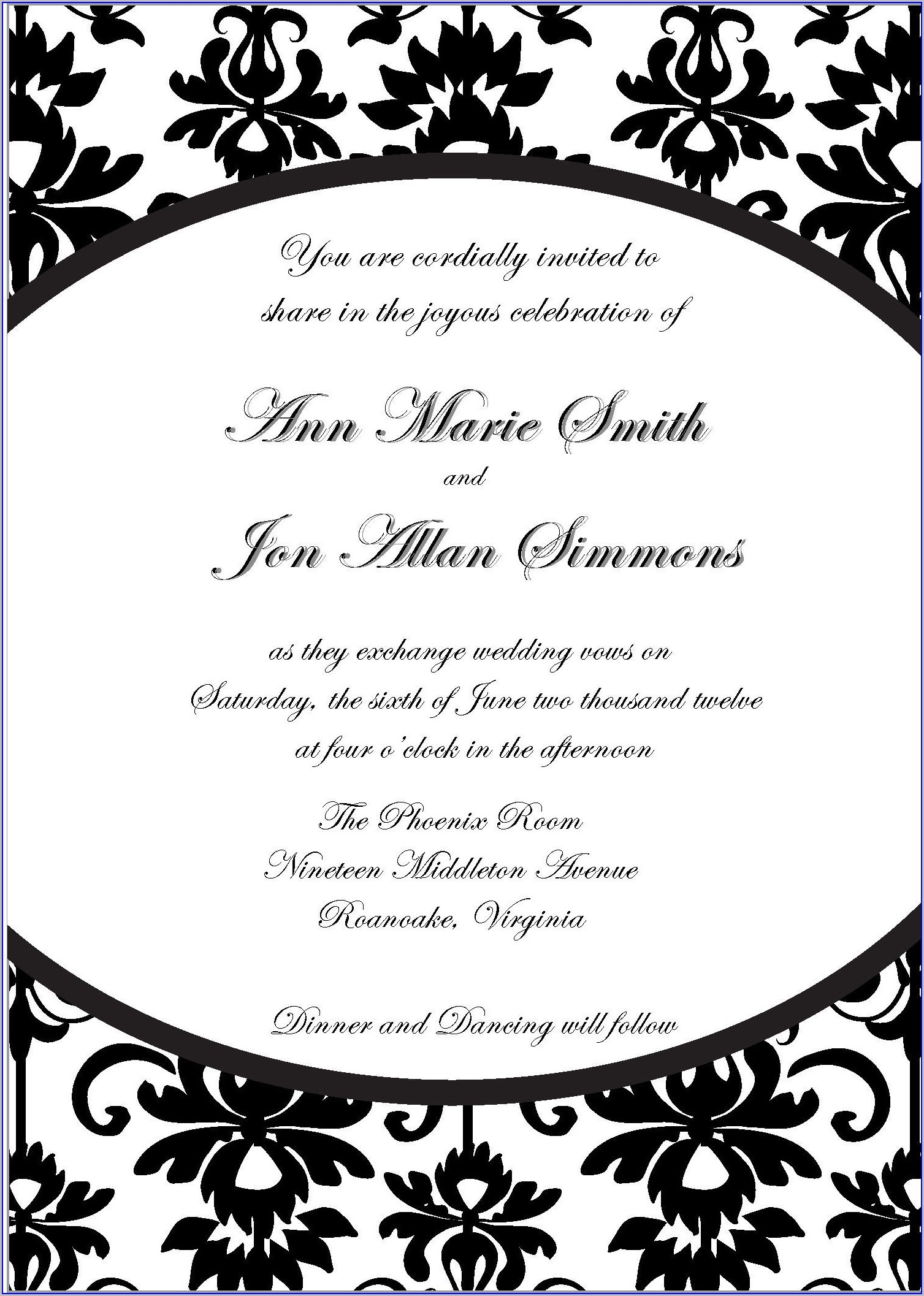 Downloadable Free Invitation Templates For Word