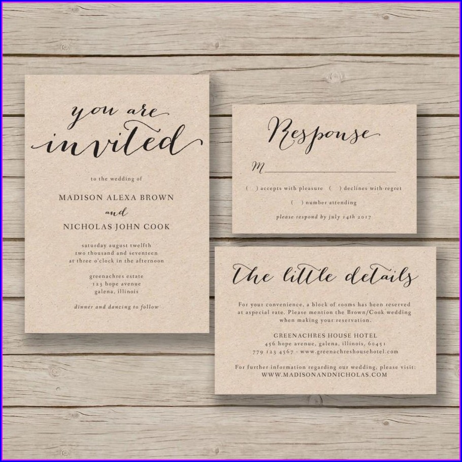 Downloadable Free Wedding Invitation Templates For Word