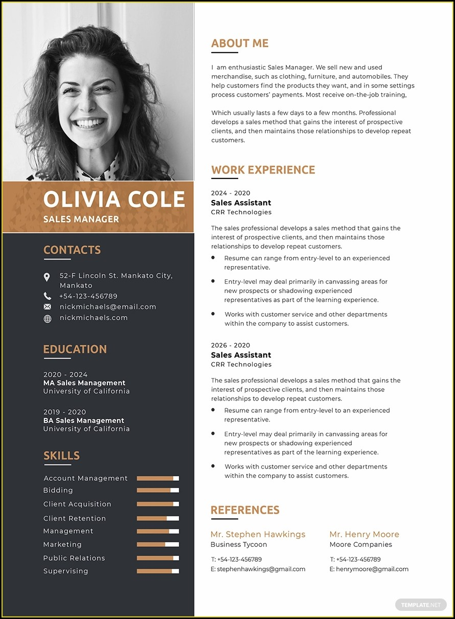 Downloadable One Page Resume Template Word Free