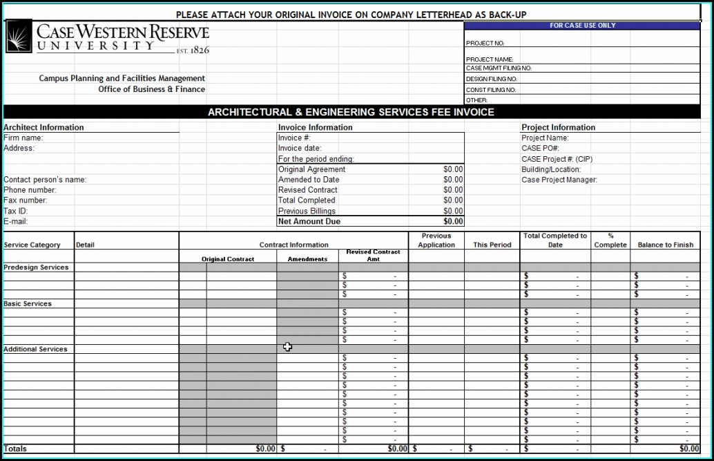Downloadable Word Document Invoice Template Word