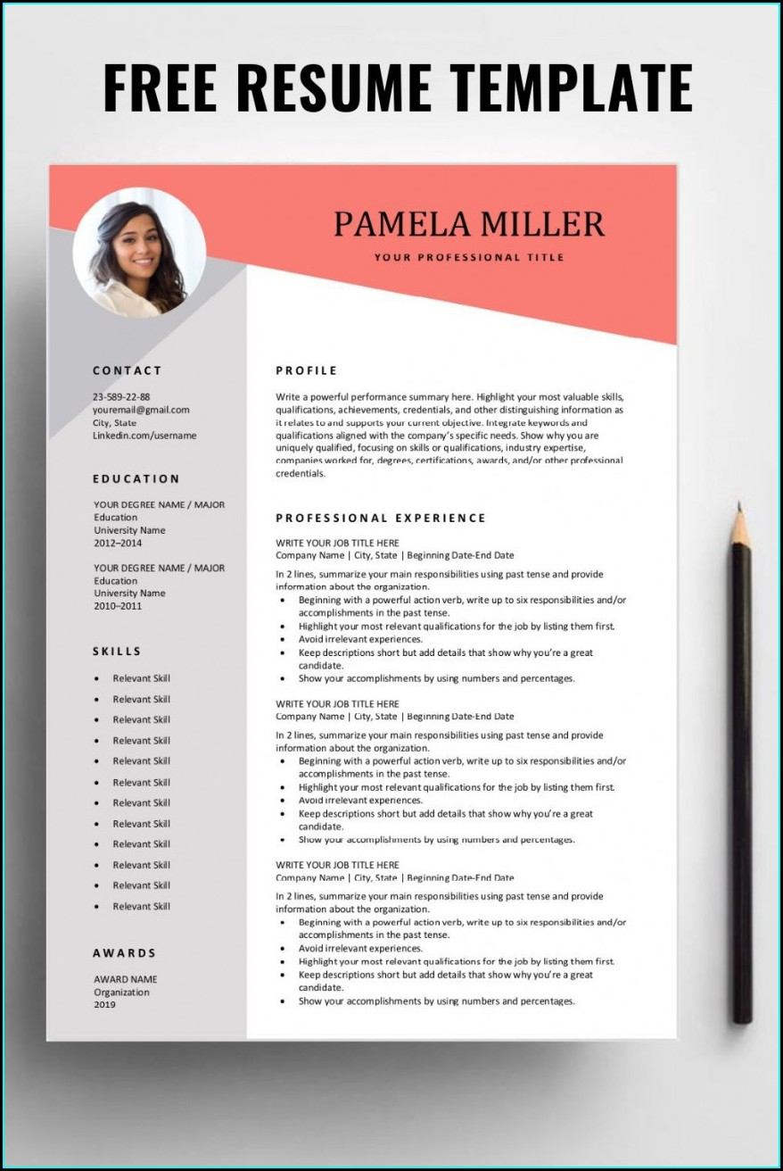Downloadable Word Document Professional Resume Template