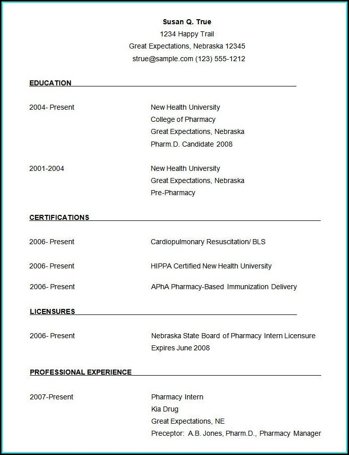 Downloadable Word Document Resume Template Word