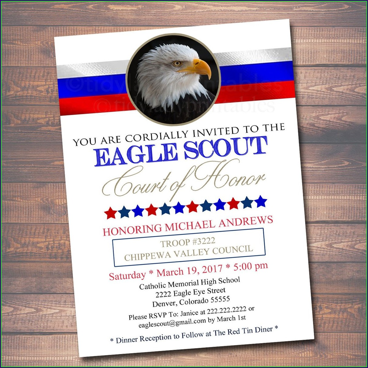 Eagle Scout Invitations Free Printable
