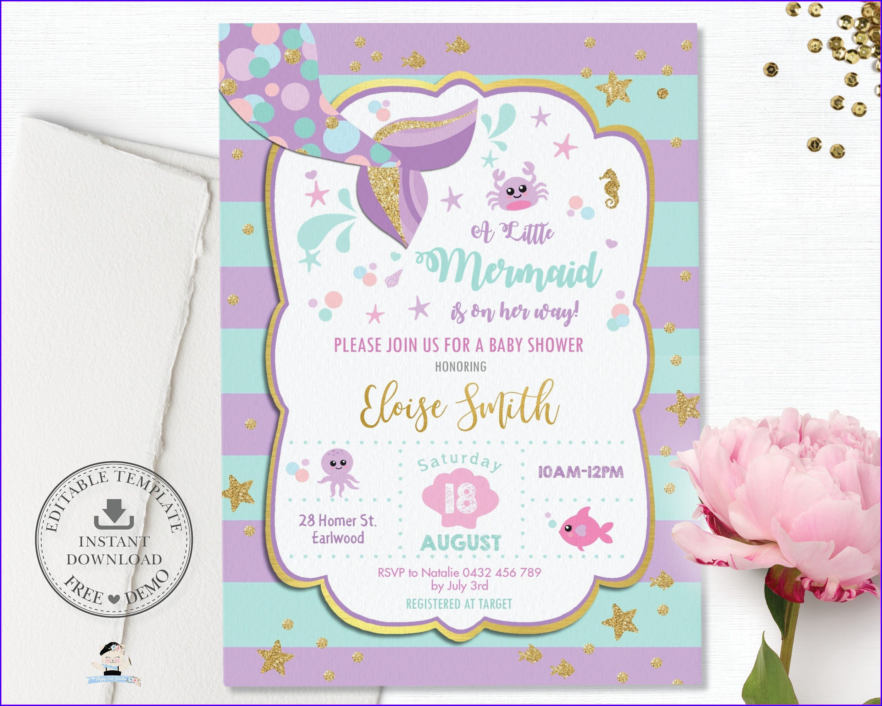 Editable Barbie Birthday Invitations Templates Free