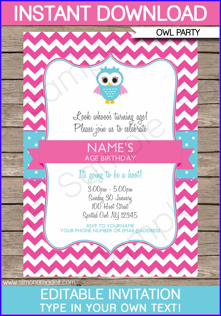 Editable Birthday Invitations Templates Free With Photo