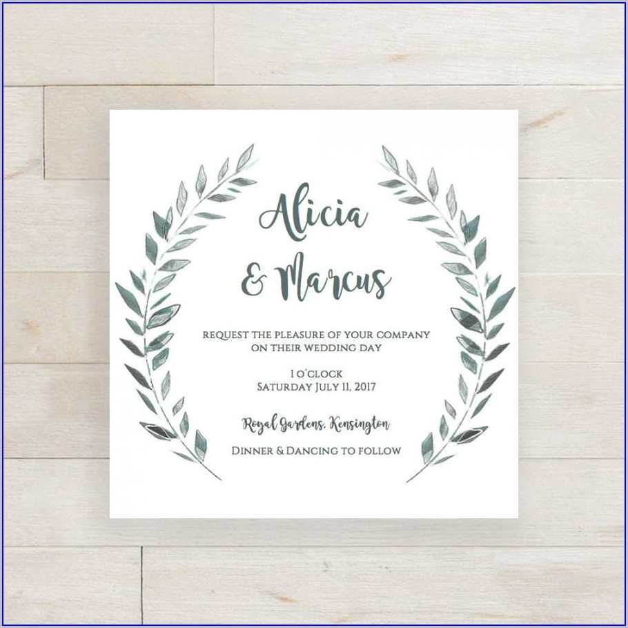 Editable Blank Wedding Invitation Templates Free Download