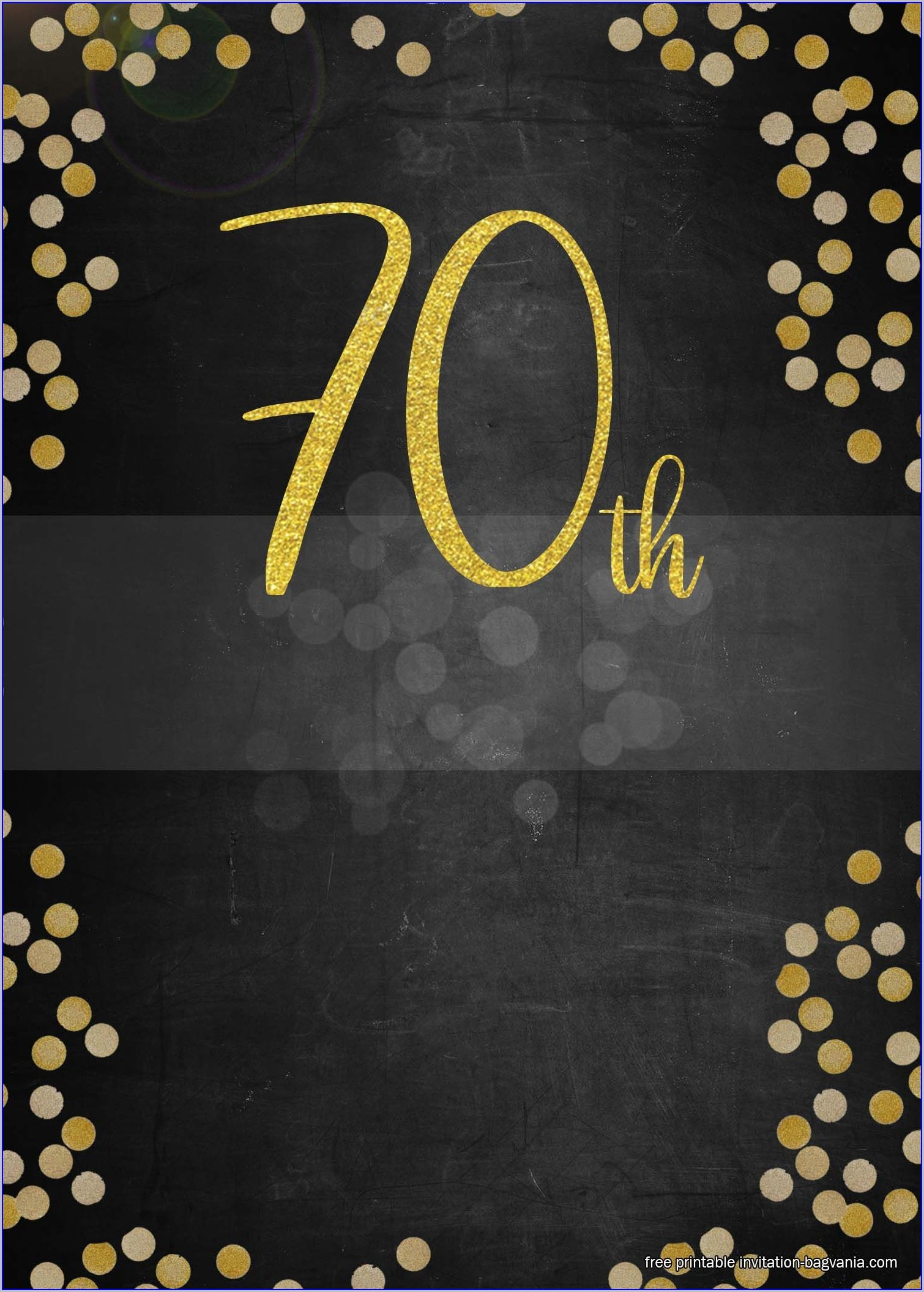 Editable Downloadable 70th Birthday Invitations Templates Free