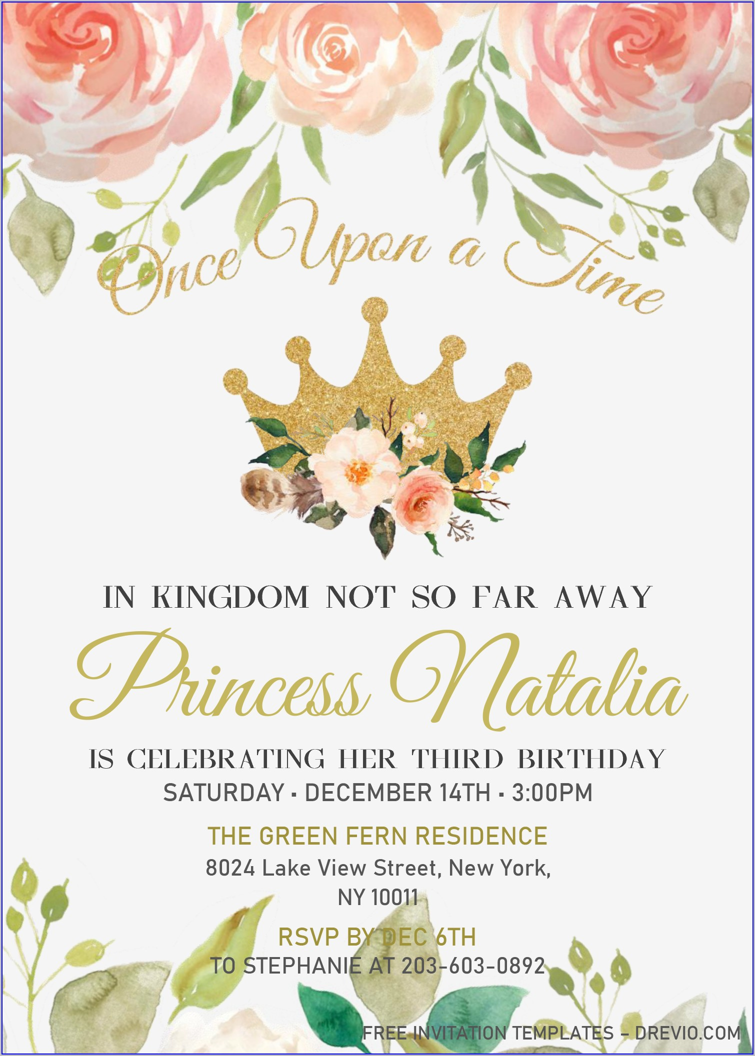 Editable Free Birthday Invitation Templates