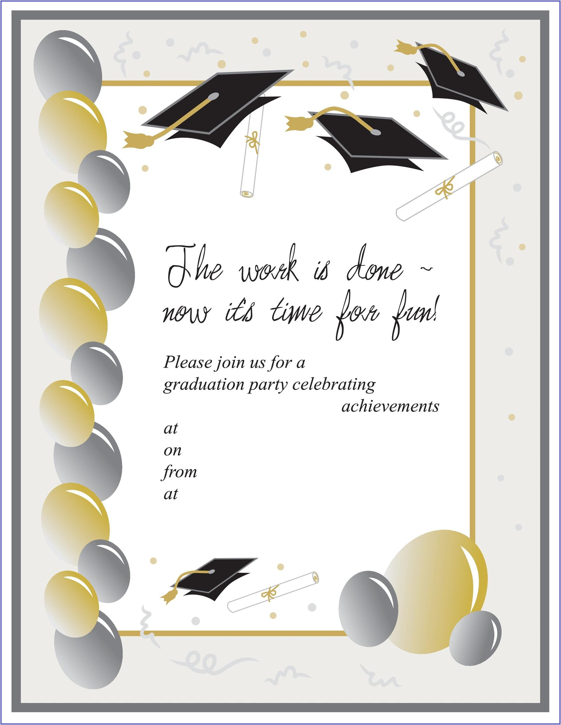 Editable Free Invitation Templates For Word