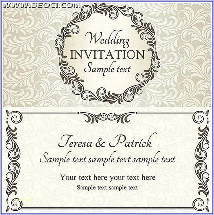 Editable Free Wedding Invitation Templates
