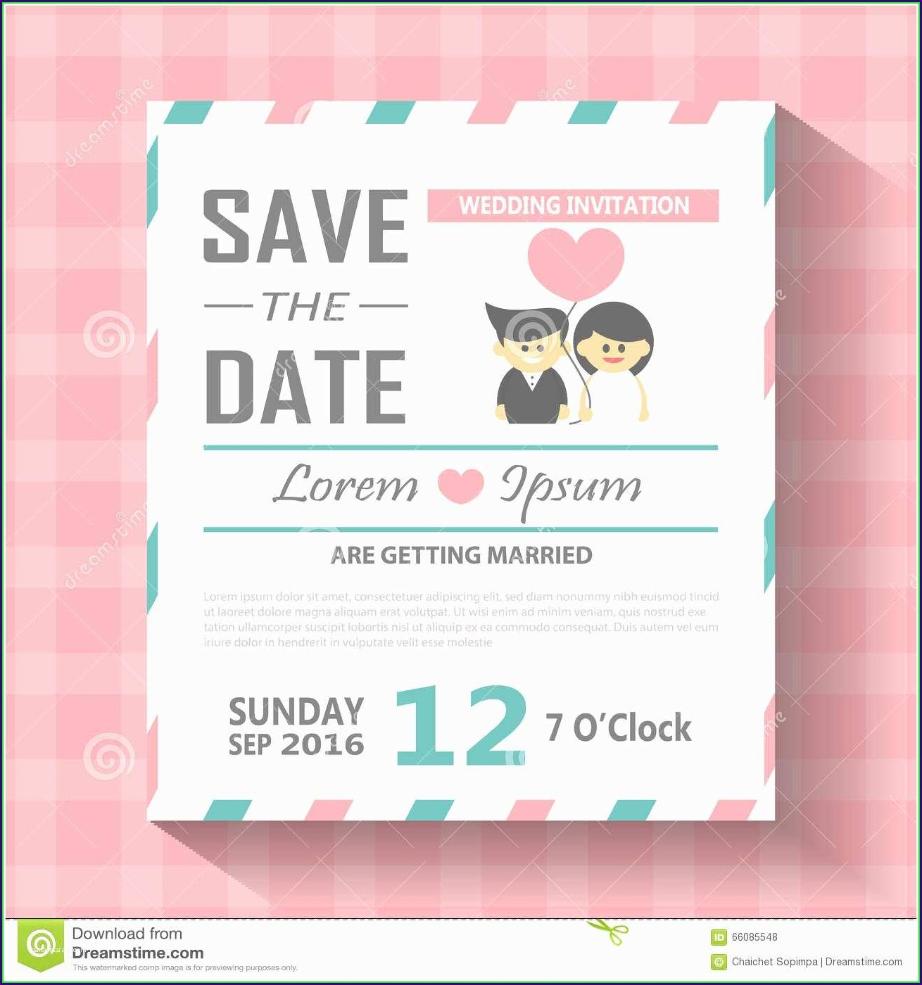 Editable Invitation Card Template Free Download