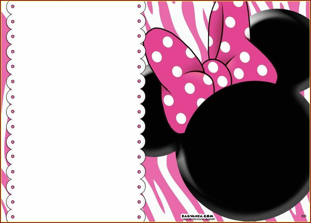 Editable Minnie Mouse Invitation Template Free
