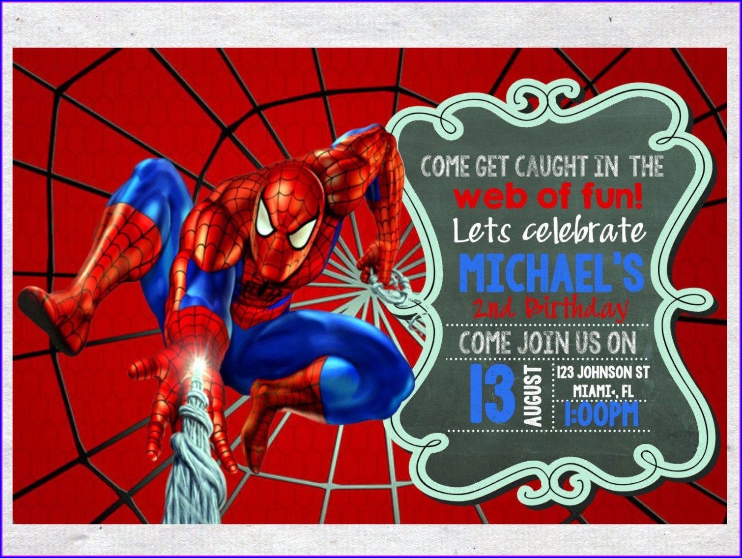 Editable Templates Free Free Personalized Spiderman Birthday Invitations
