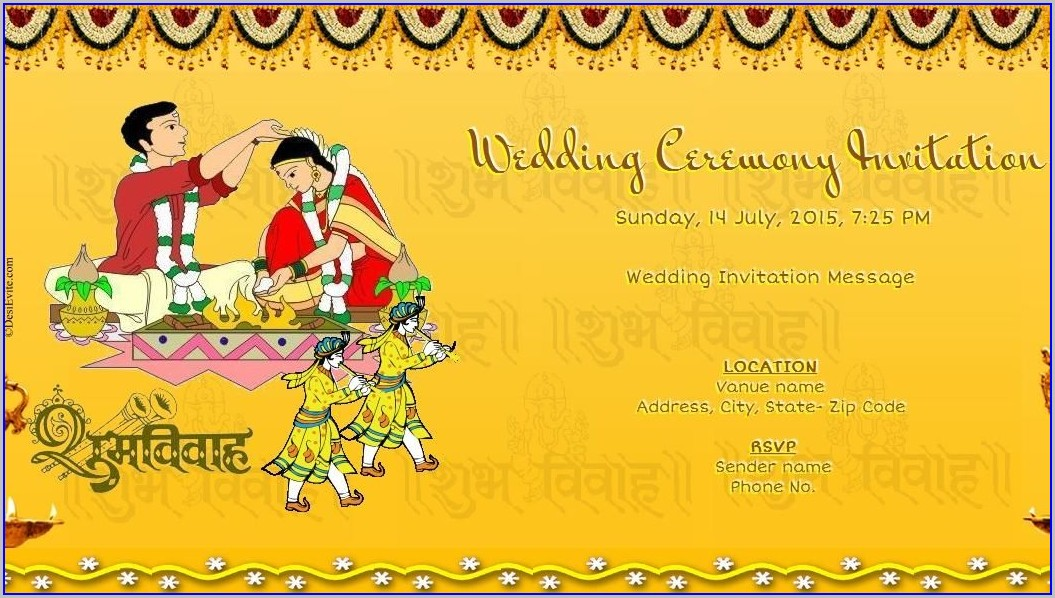 Editable Wedding Invitation Templates Indian