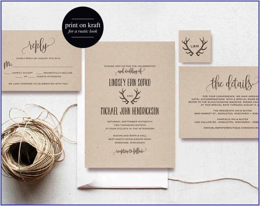 Editable Wedding Invitation Templates With Photo