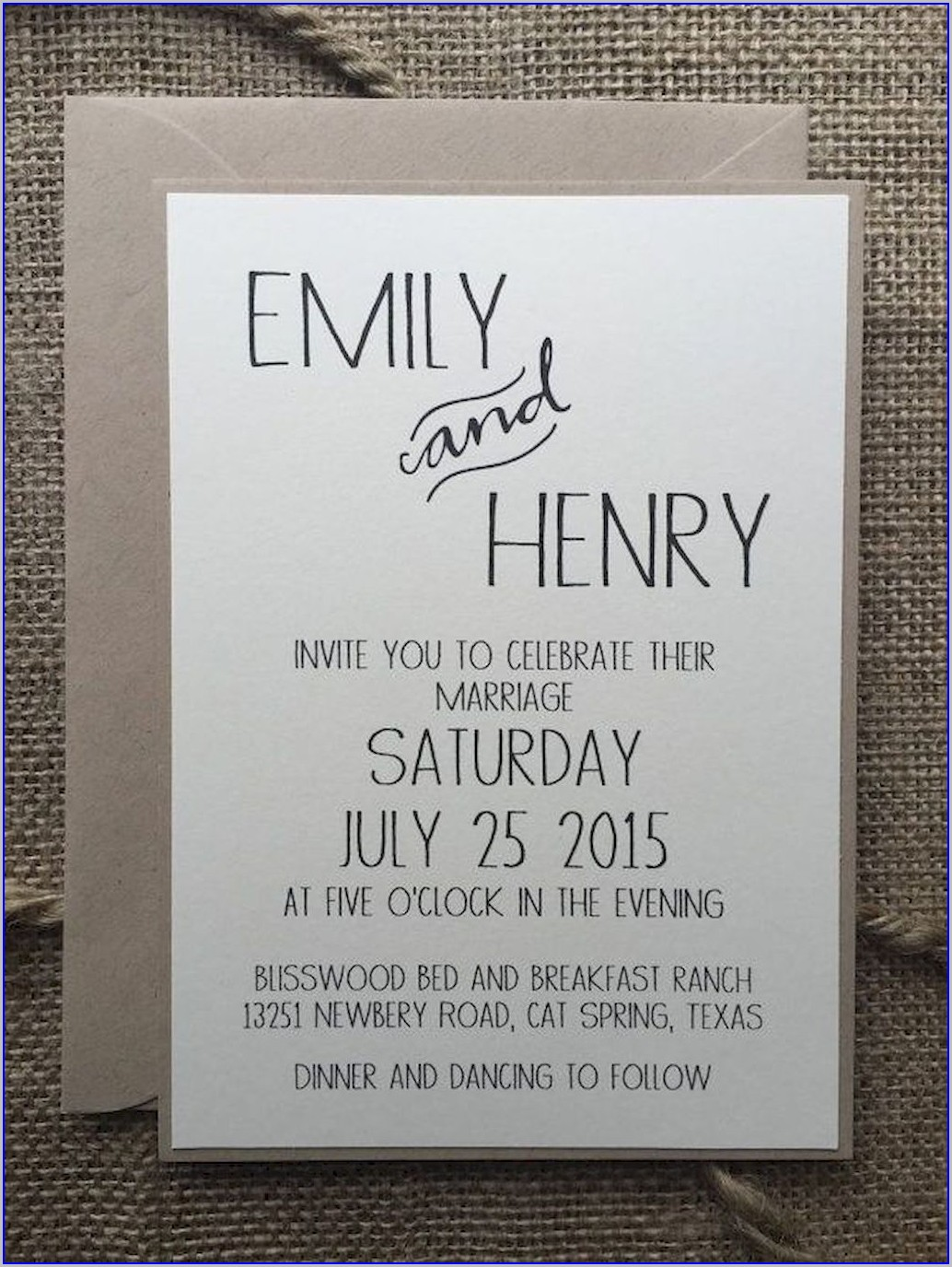 Elegant Simple Wedding Invitations Ideas