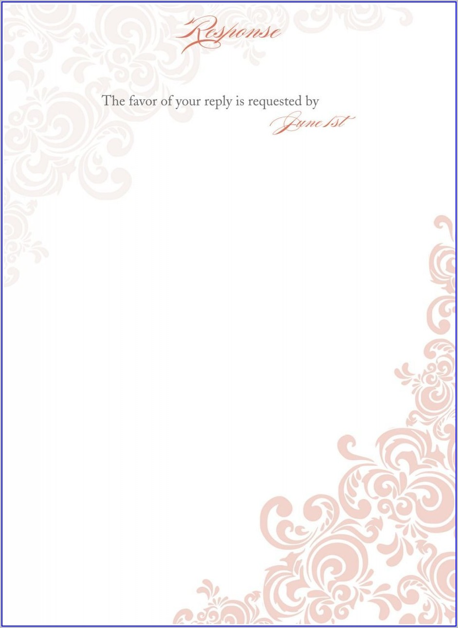 Elegant Wedding Invitation Templates Blank