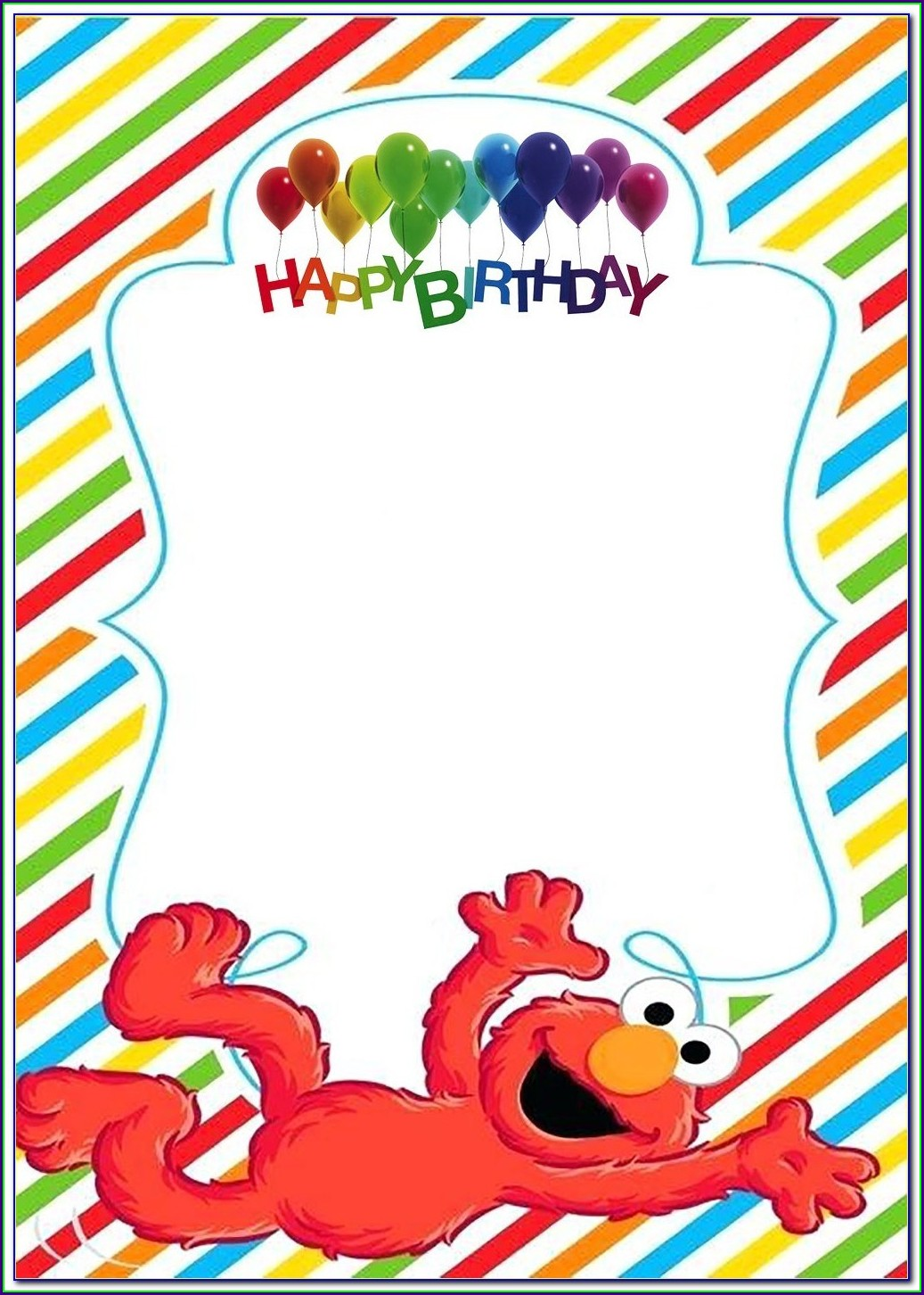 Elmo Birthday Invitations Free Template