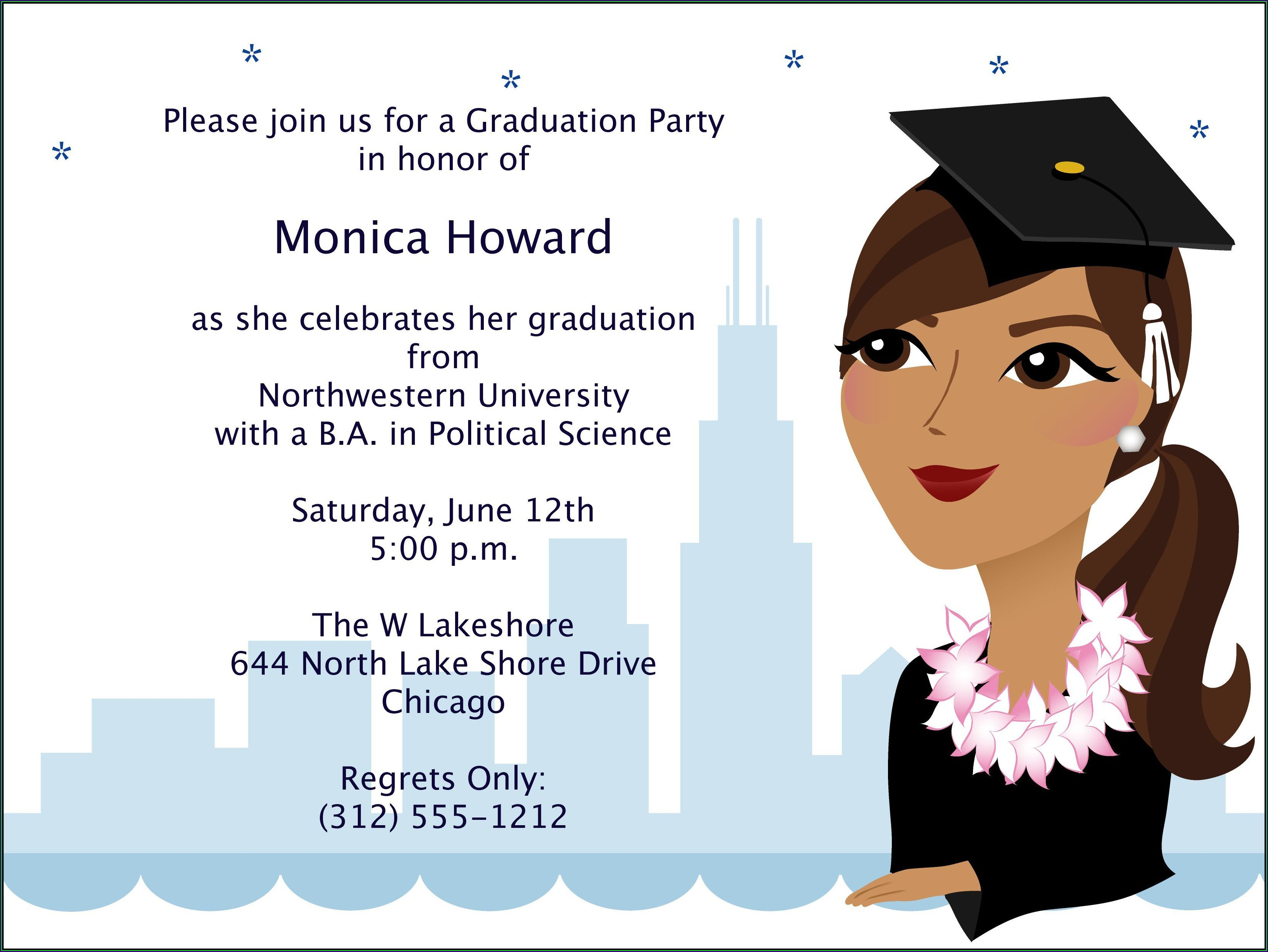 Fashion Design Graduation Invitation Card