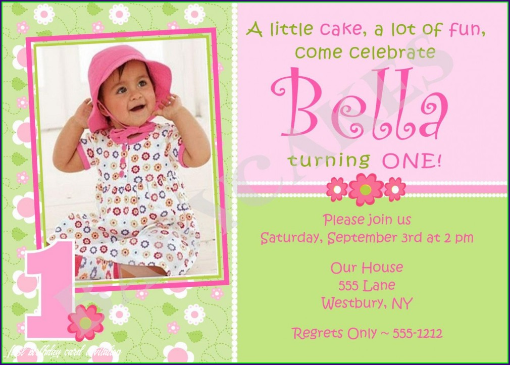 First Birthday Invitations Girl