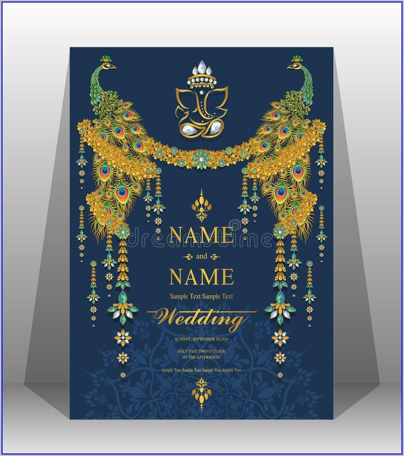 Floral Indian Wedding Invitation Templates