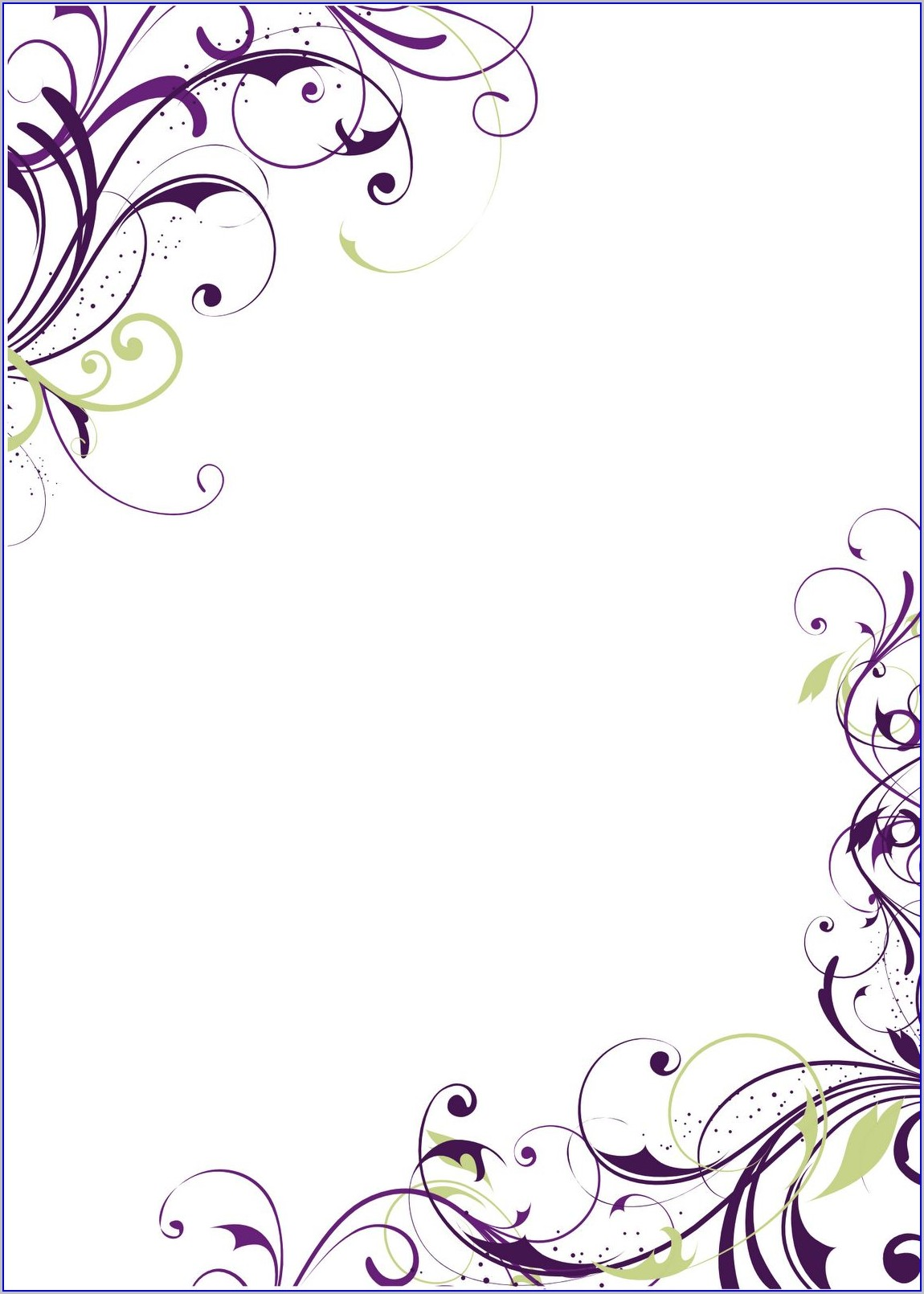 Floral Wedding Invitation Templates Blank
