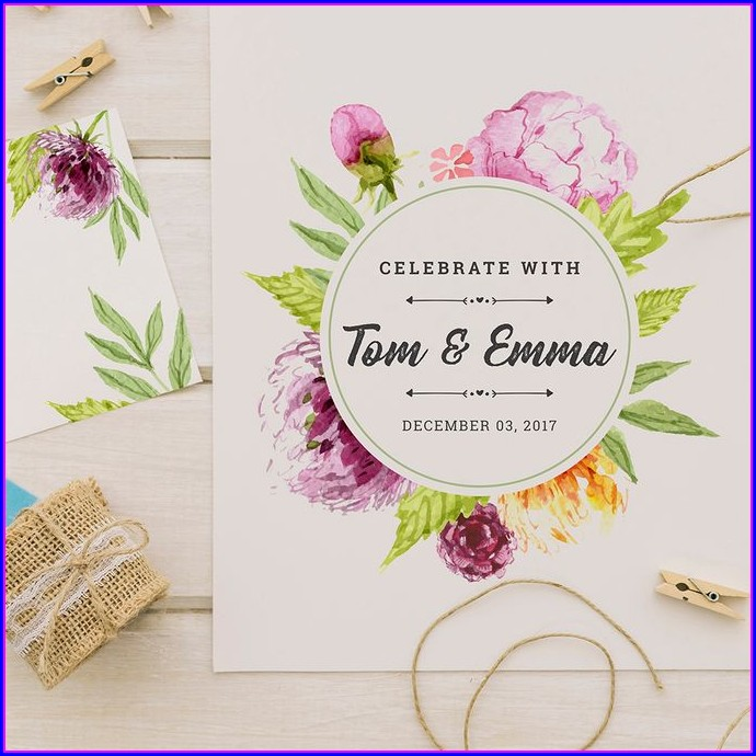Floral Wedding Invitations Designs