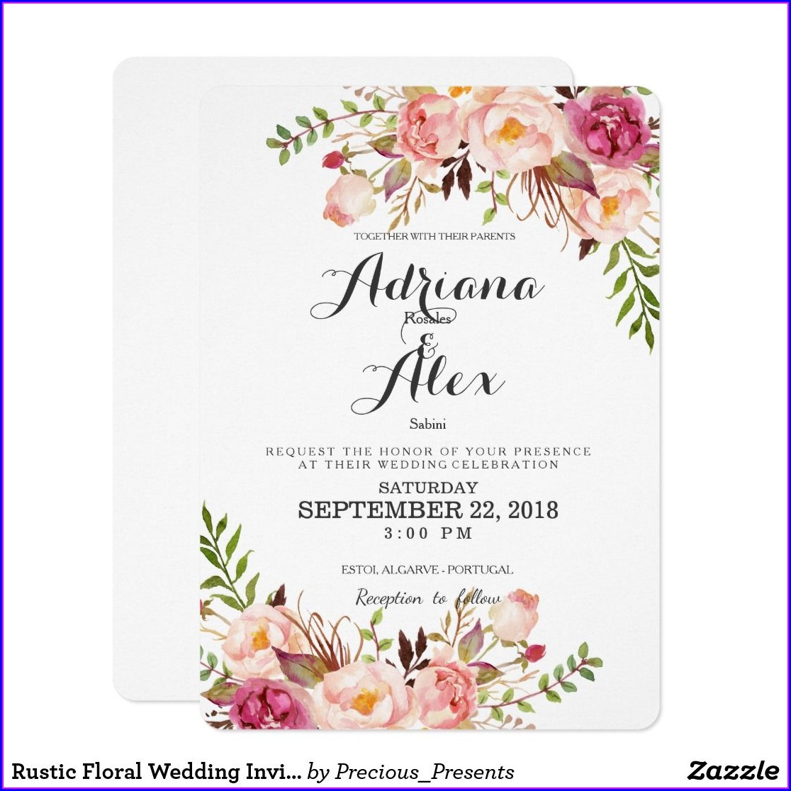 Floral Wedding Invitations Uk