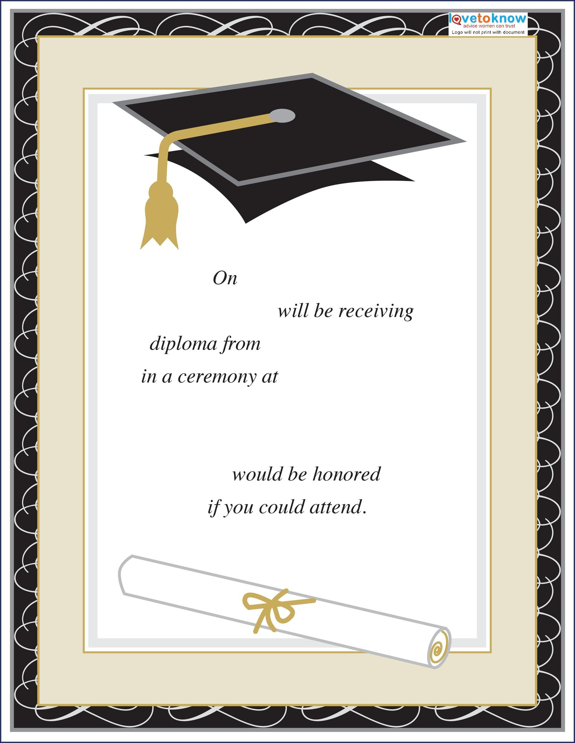 Formal Invitation Card Graduation Ceremony