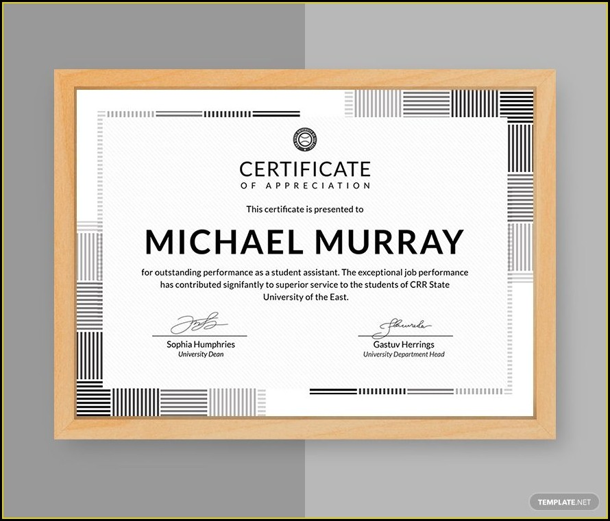 Free Certificate Of Appreciation Template Word Doc