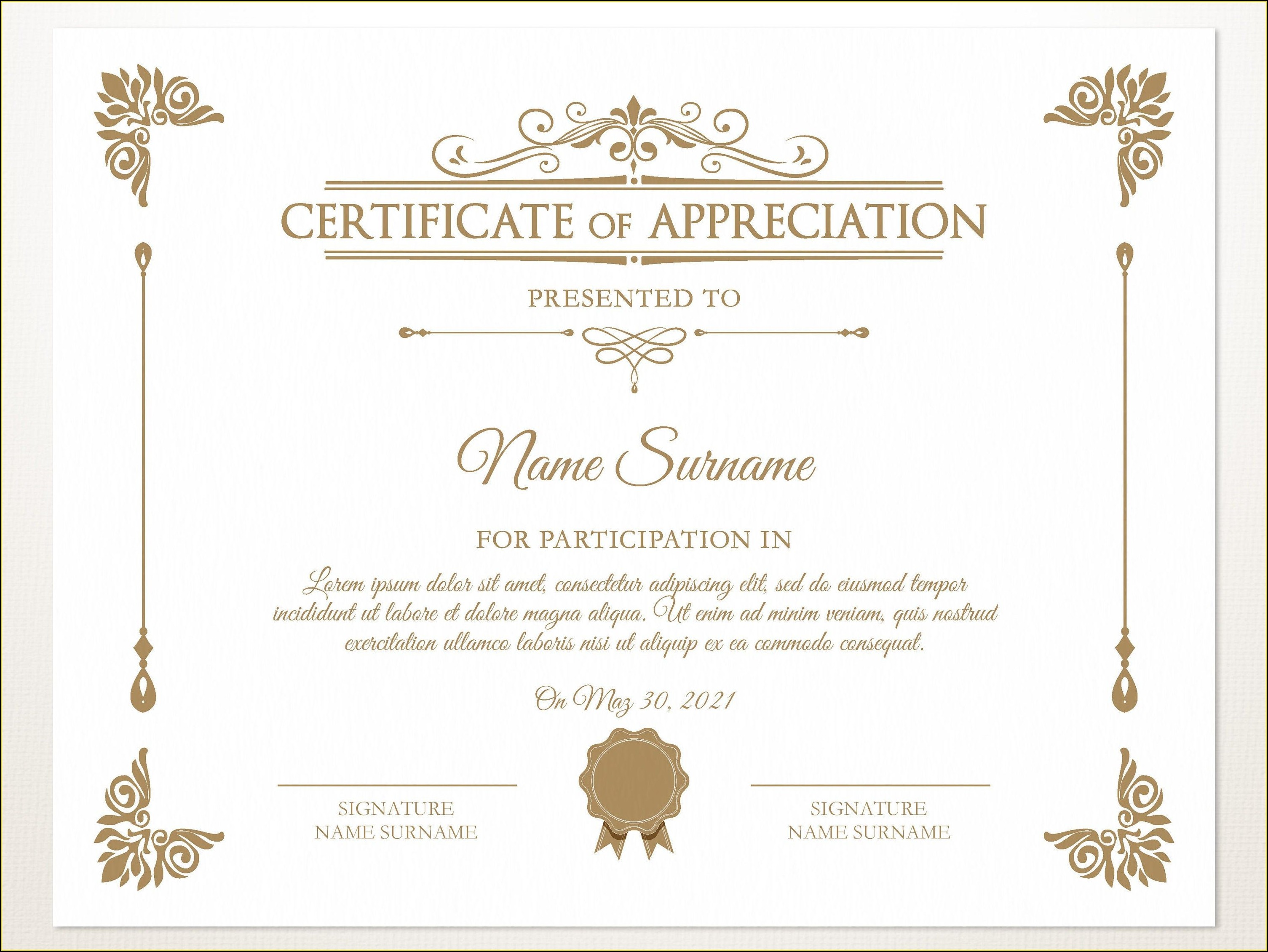 Free Certificate Of Appreciation Template Word