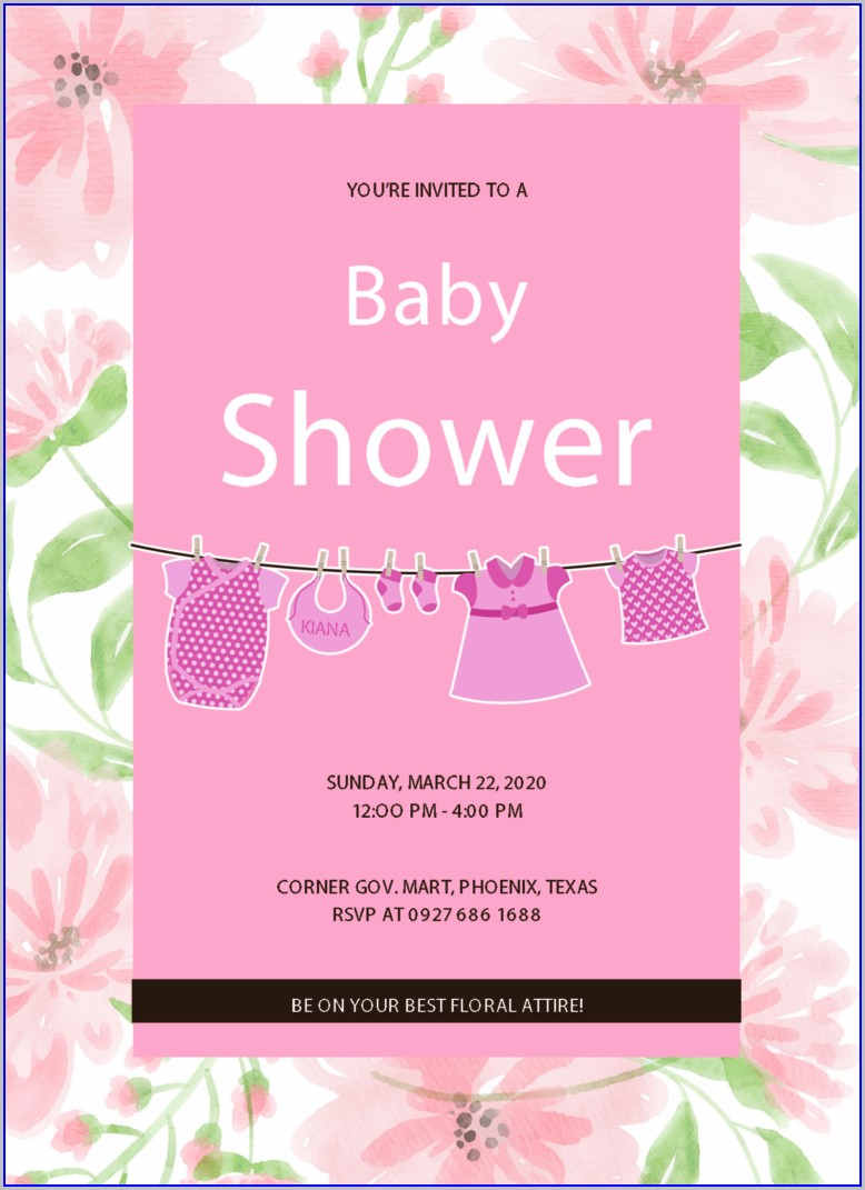 Free Editable Baby Shower Invitation Templates