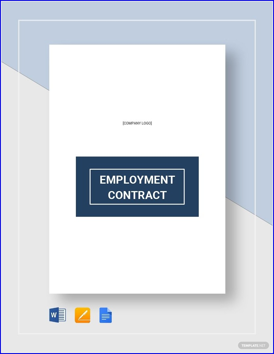 Free Employee Contract Template Word