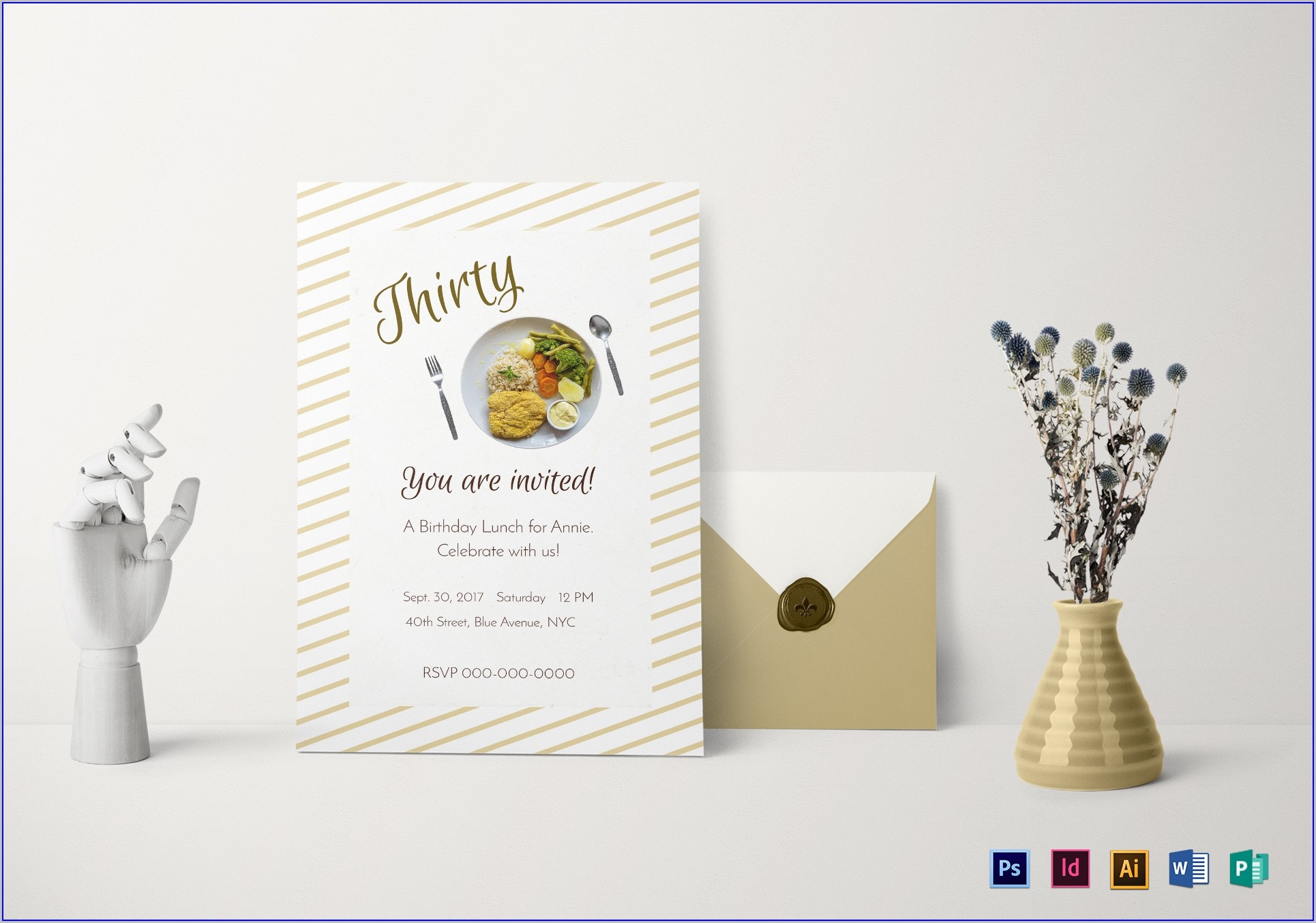 Free Lunch Invitation Templates For Word