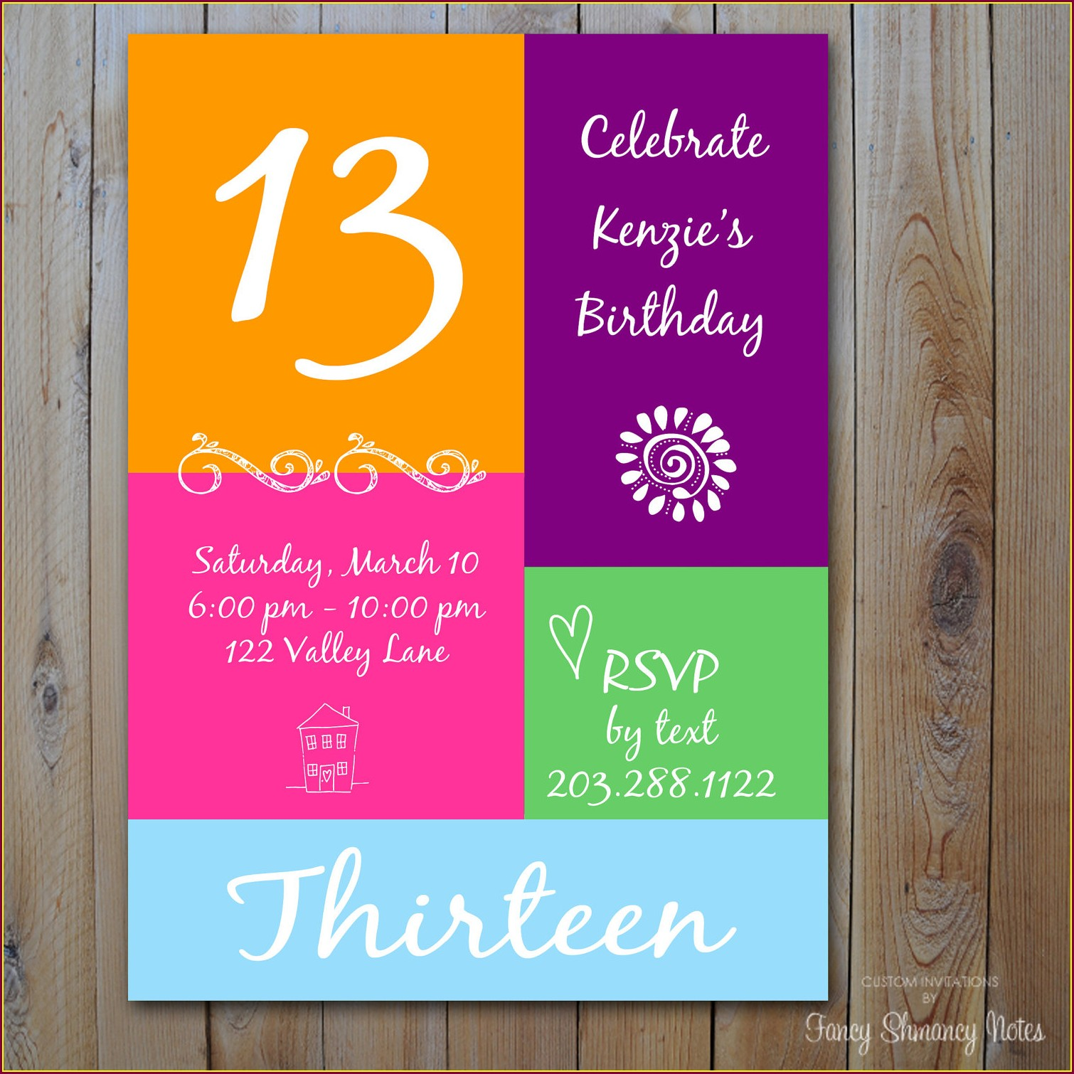 Free Printable 13th Birthday Party Invitations