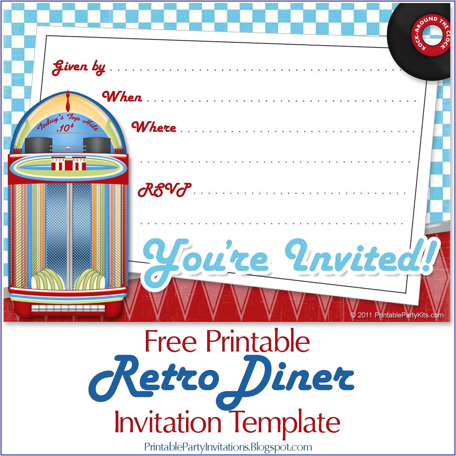Free Printable 50's Party Invitation Templates Free