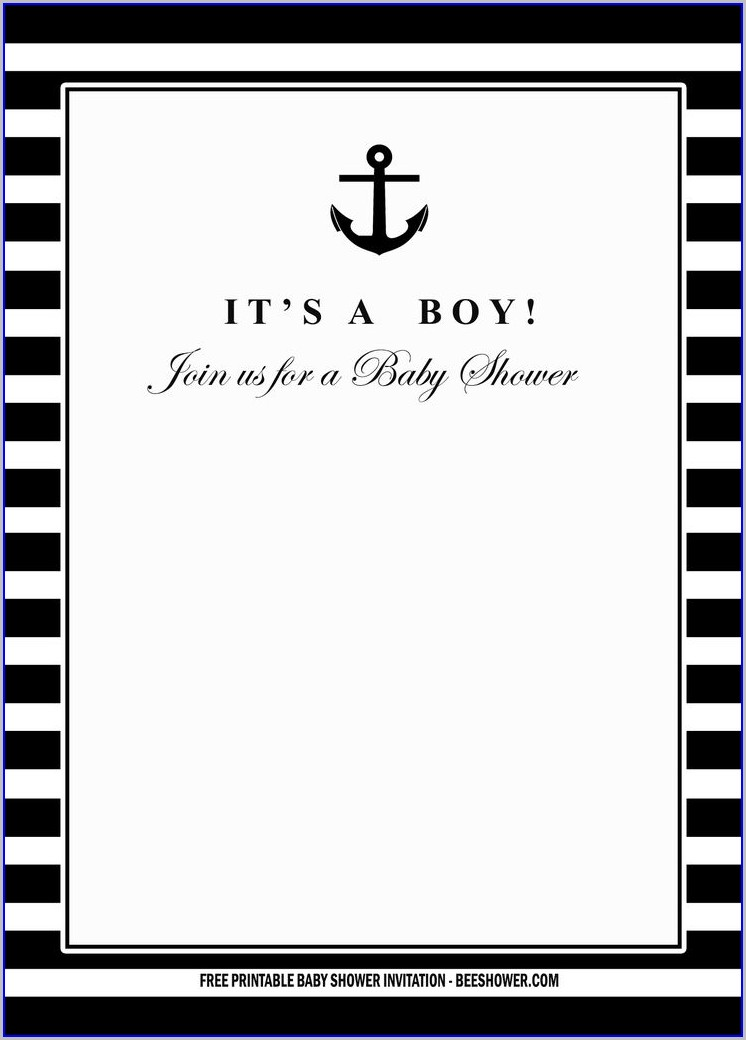 Free Printable Black And White Birthday Invitation Templates