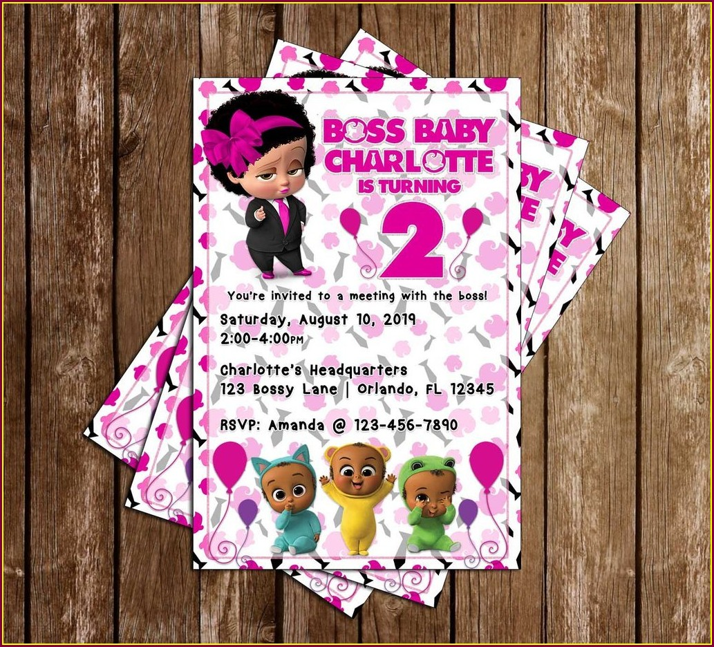 Free Printable Boss Baby Girl Invitations