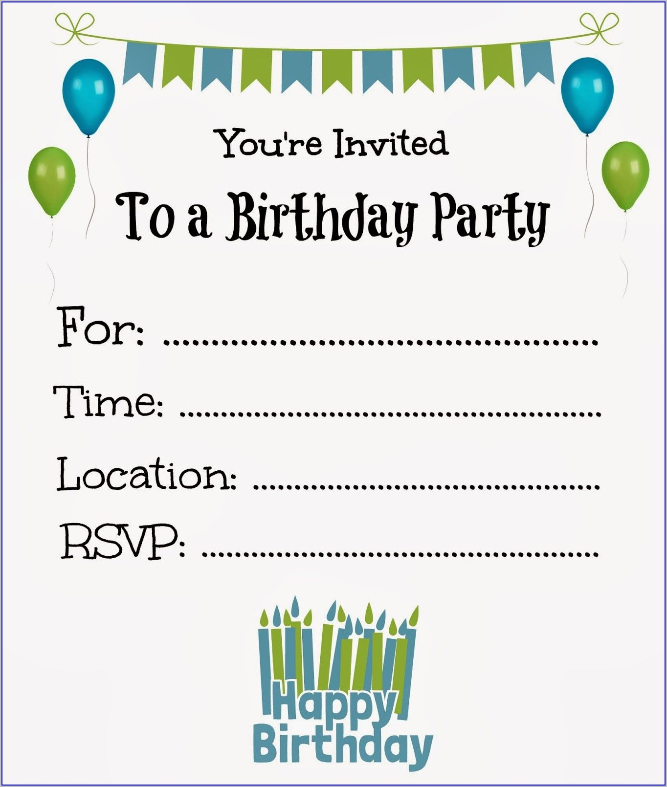 Free Printable Boys Birthday Invitations