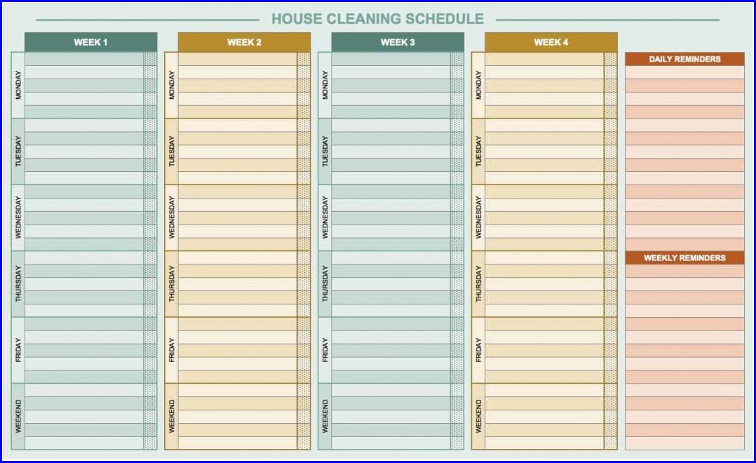 Free Printable Daily Work Schedule Template
