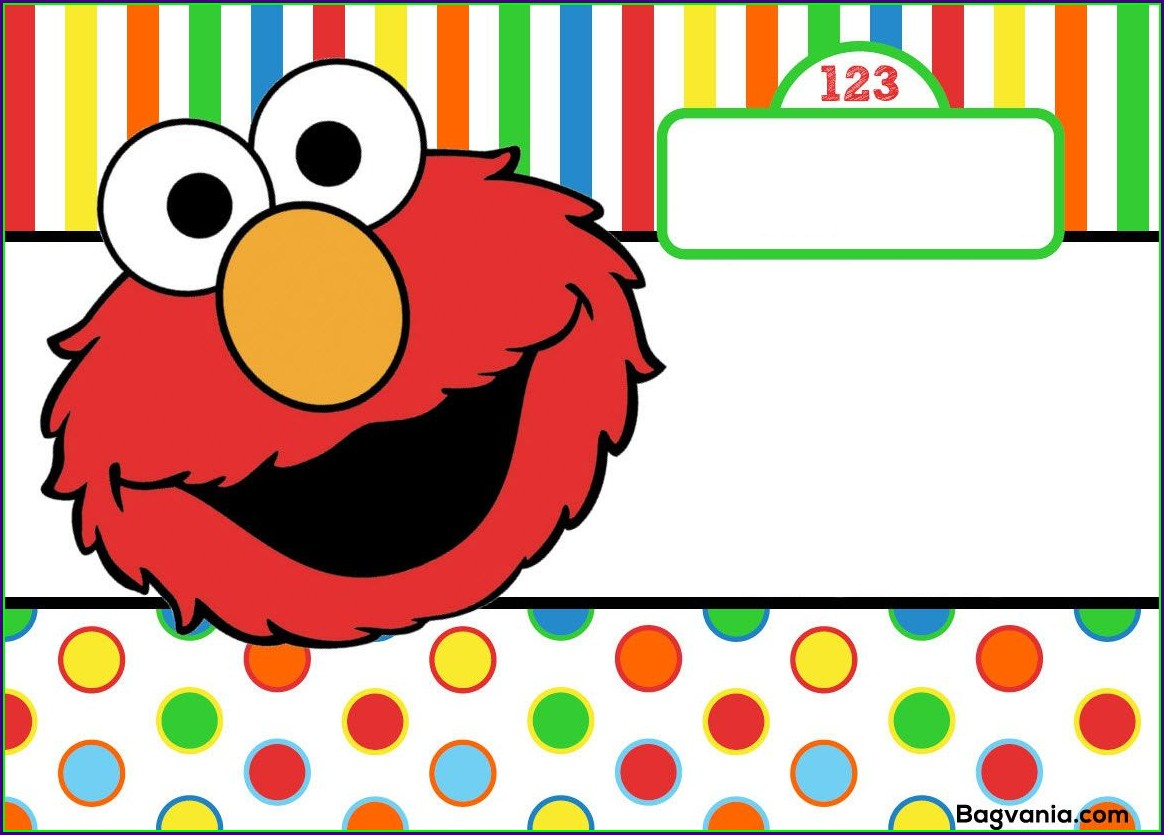 Free Printable Elmo Birthday Invitations Template