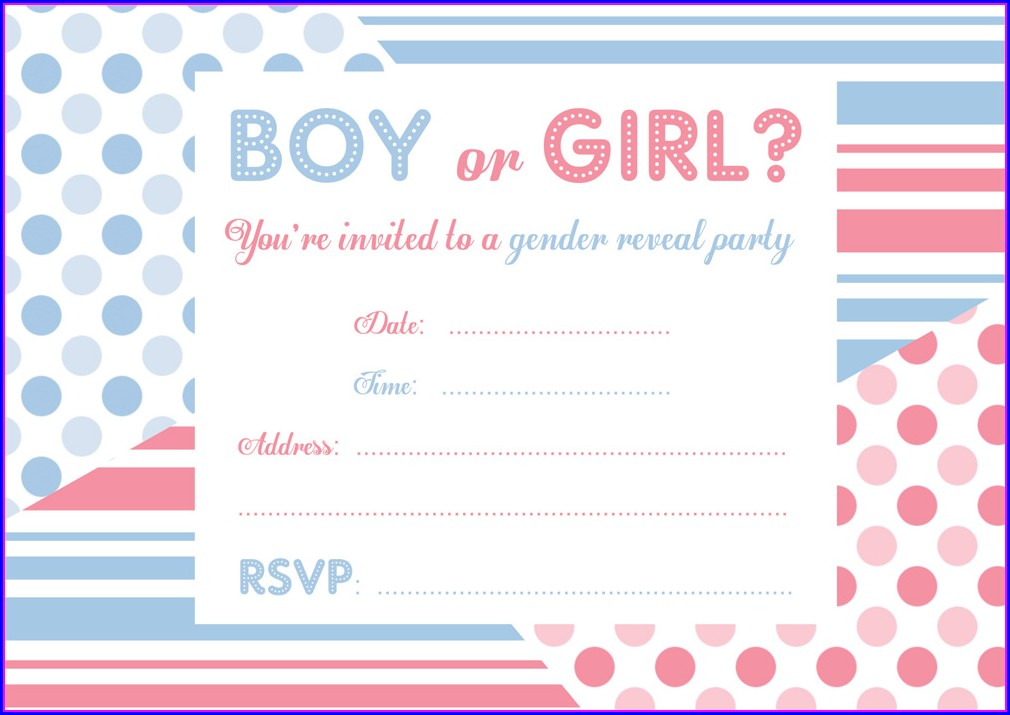 Free Printable Gender Reveal Invitations