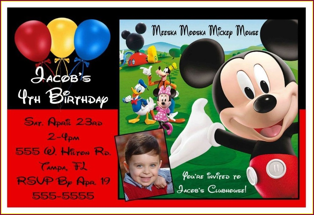 Free Printable Mickey Mouse Clubhouse Invitations