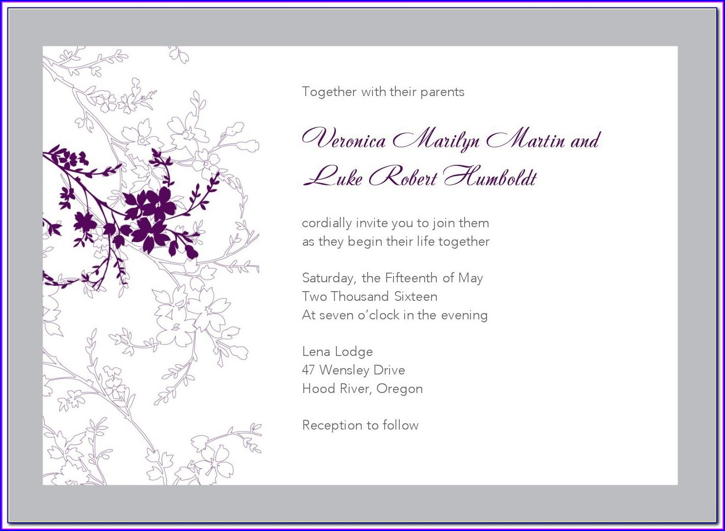 Free Wedding Invitation Templates For Word Tamil